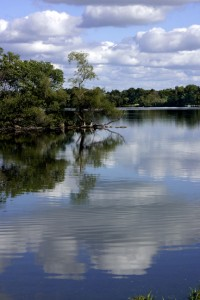 Center Lake, Dickinson County, IA USA